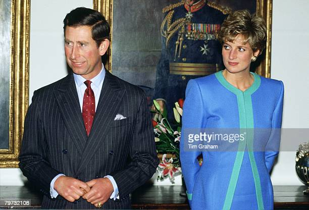 Prince Charles Prince of Wales and Diana Princess of Wales during a visit to Ottawa in Canada