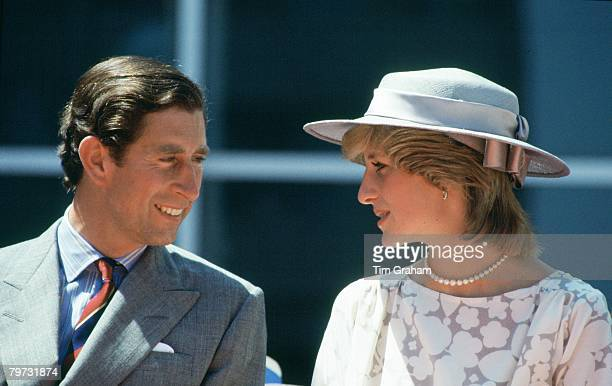 Prince Charles Prince of Wales and Diana Princess of Wales during an official visit to Ottawa Canada