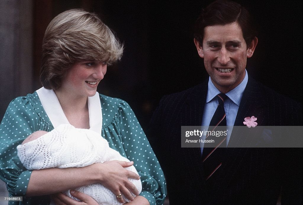 (FILE) Princess Diana Departs From St Mary's Hospital With Prince William : Fotografía de noticias