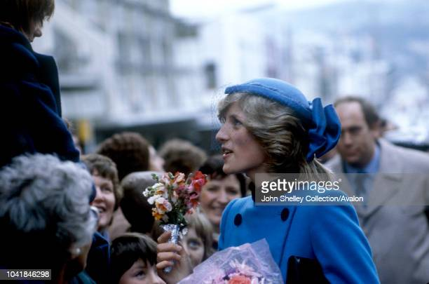 Prince Charles, Prince of Wales, and Diana, Princess of Wales, meet the crowds in Dunedin, New Zealand, 25th April 1983.