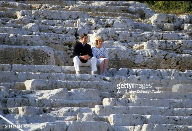Prince Charles Prince of Wales and Diana Princess of Wales visit Italy 1st April 1985