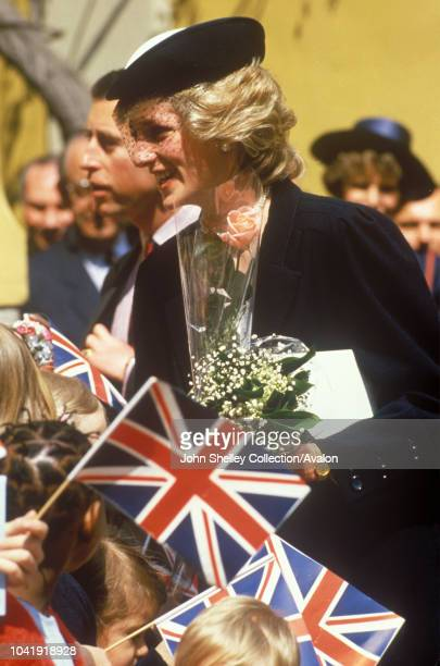 Prince Charles Prince of Wales and Diana Princess of Wales visit Milan during a trip to Italy 20th April 1985