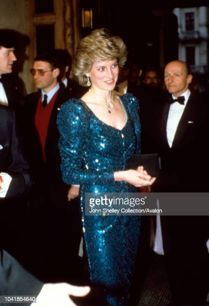 Prince Charles, Prince of Wales, and Diana, Princess of Wales, visit Vienna, Austria, At a gala performance of 'Love For Love' at the Vienna Burgh...