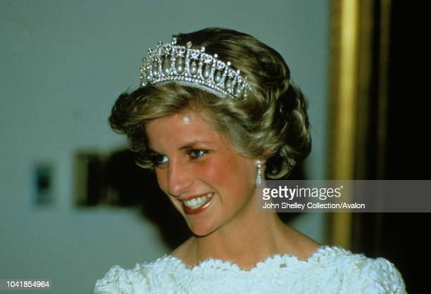 Prince Charles Prince of Wales and Diana Princess of Wales visit Washington DC At a dinner in Washington DC hosted by the British Ambassador Sir...
