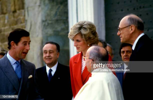 Prince Charles Prince of Wales and Diana Princess of Wales visit Florence Italy 23rd April 1985