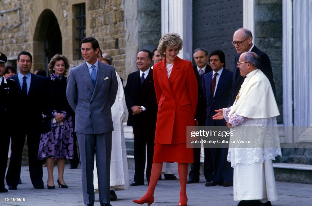Charles and Diana in Italy : News Photo