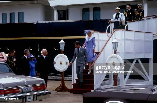 Prince Charles Prince of Wales and Diana Princess of Wales visit Canada Charlottetown Prince Edward Island 27th June 1983