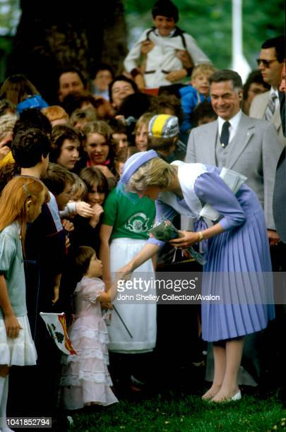 Prince Charles Prince of Wales and Diana Princess of Wales visit Canada Charlottetown Prince Edward Island Crops and Livestock Research Centre 27th...