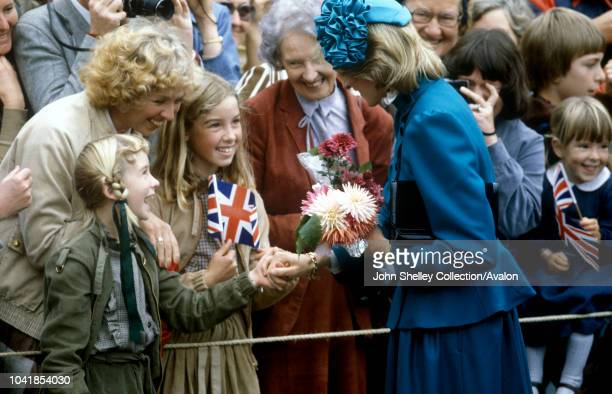 Prince Charles, Prince of Wales, and Diana, Princess of Wales, visit Wellington during their official tour of New Zealand, 20th April 1983.