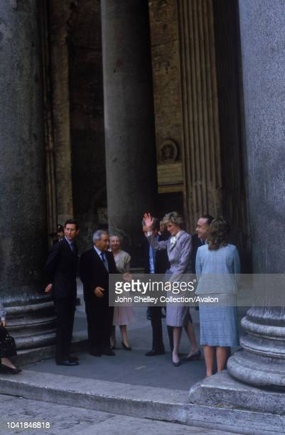 Prince Charles Prince of Wales and Diana Princess of Wales visit Rome Italy 27th April 1985