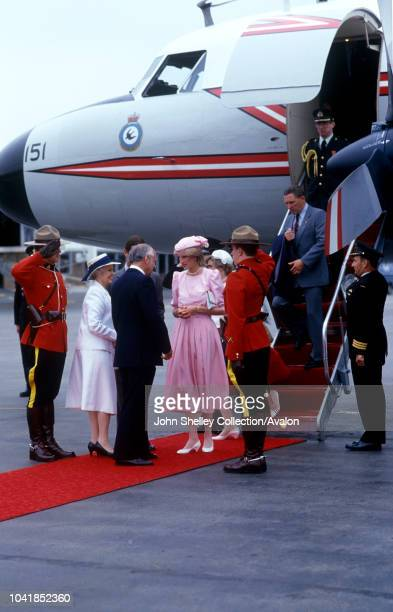 Prince Charles Prince of Wales and Diana Princess of Wales visit Canada St John's Newfoundland Arrival 23rd June 1983