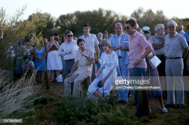 Prince Charles Prince of Wales and Diana Princess of Wales visit Australia Visit to Ayers Rock Uluru 21st March 1983