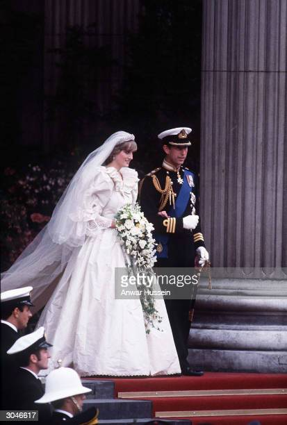 Diana Princess of Wales and Prince Charles emerge from St Paul's Cathedral after their wedding July 29 1981 in London Diana told of a lonely...