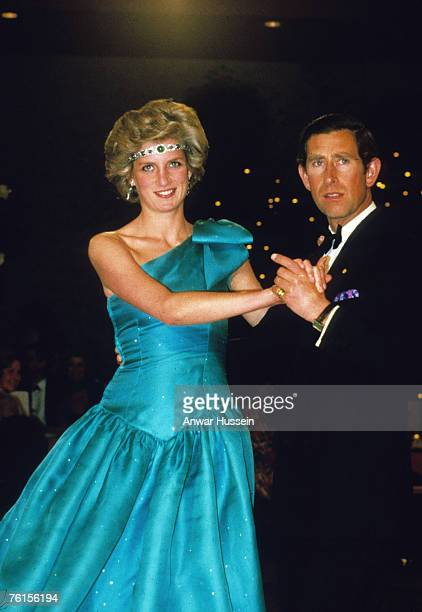Princess Diana Princess of Wales and Prince Charles Prince of Wales dancing in Australia in 1983