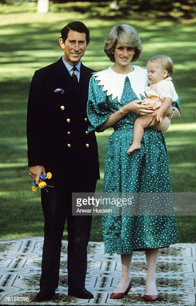 Prince William is seen with his parents HRH Prince Charles and the late Princess Diana during their 1983 official visit to New Zealand in April 1983...