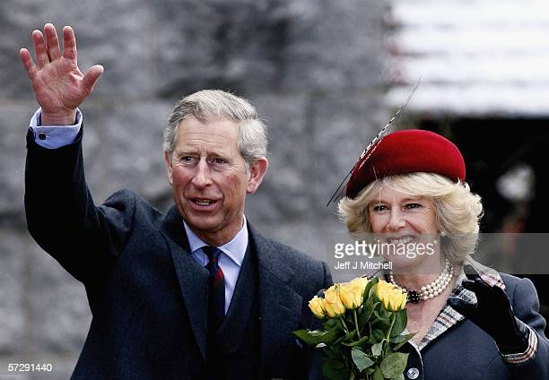 Prince Charles, Prince of Wales and HRH Camilla, Duchess of Cornwall arrive at Crathie Church on April 9 Ballater in Scotland.The Royal couple are...