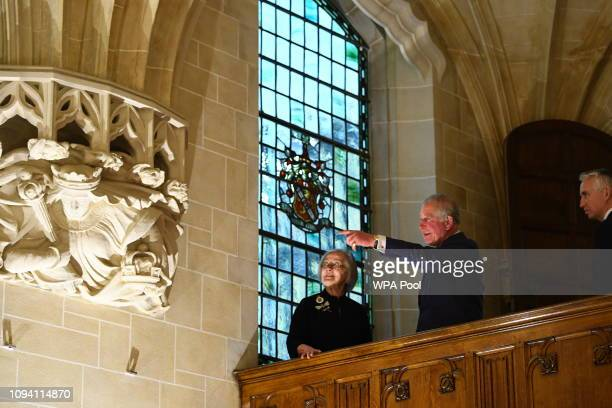 Prince Charles, Prince of Wales and Lady Hale, President of the Supreme Court during a visit to The Supreme Court of the United Kingdom in Parliament...