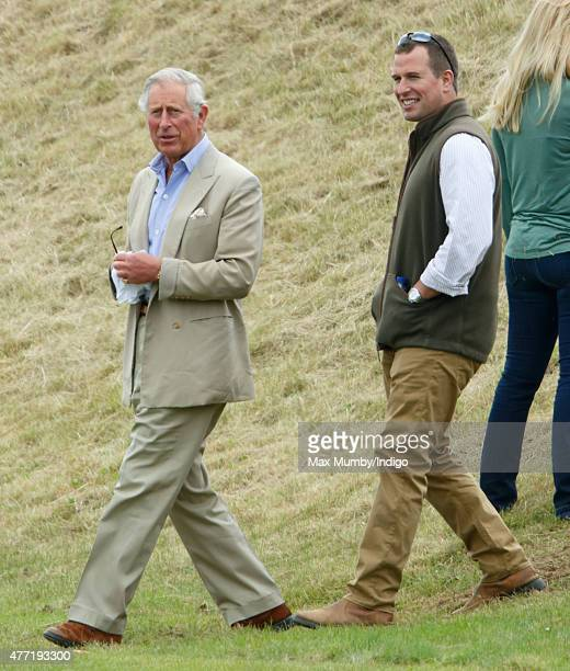 Prince Charles Prince of Wales and Peter Phillips attend the Gigaset Charity Polo Match at the Beaufort Polo Club on June 14 2015 in Tetbury England