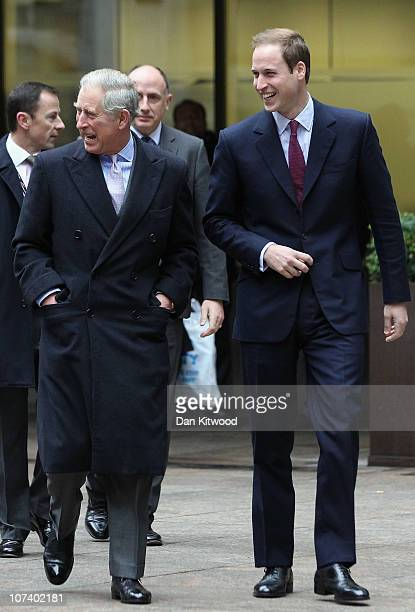 Prince Charles, Prince of Wales and Prince William arrive to attend the 18th annual ICAP Charity Day on December 8, 2010 in London, England. Revenues...