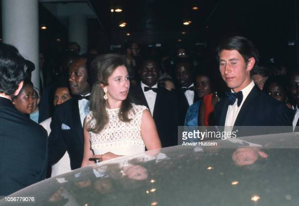Prince Charles Prince of Wales and Princess Anne attend a formal event on February 15 1971 in Nairobi Kenya
