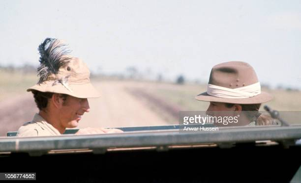 Prince Charles Prince of Wales and Princess Anne on safari in the Masai Game Reserve on February 15 1971 in Nairobi Kenya