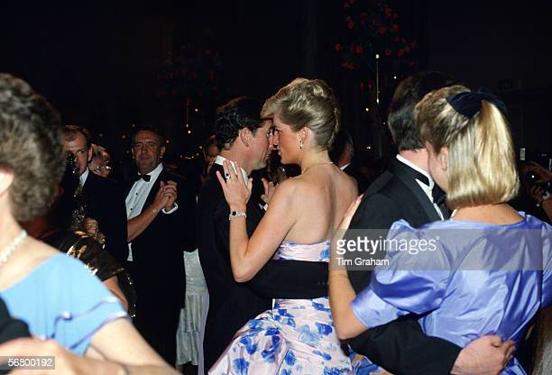 Prince Charles Prince of Wales and Princess Diana Princess of Wales dancing at the Hotel Hyatt in Melbourne Australia