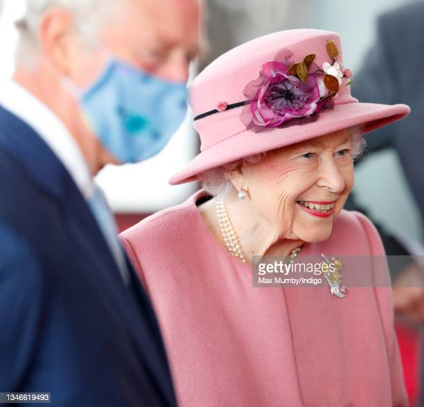 Prince Charles, Prince of Wales and Queen Elizabeth II attend the opening ceremony of the sixth session of the Senedd at The Senedd on October 14,...