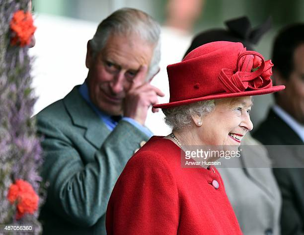 Prince Charles Prince of Wales and Queen Elizabeth ll attend the Braemar Highland Games on September 05 2015 in Braemar Scotland There has been an...