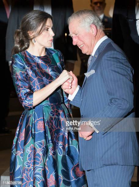 Prince Charles Prince of Wales and Queen Letizia of Spain attend the opening of 'Sorolla Spanish Master of Light' at the National Gallery on March 13...