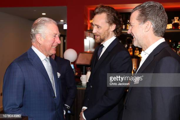 Prince Charles Prince of Wales and Tom Hiddleston during an official visit to BFI Southbank on December 06 2018 in London England The Prince of Wales...