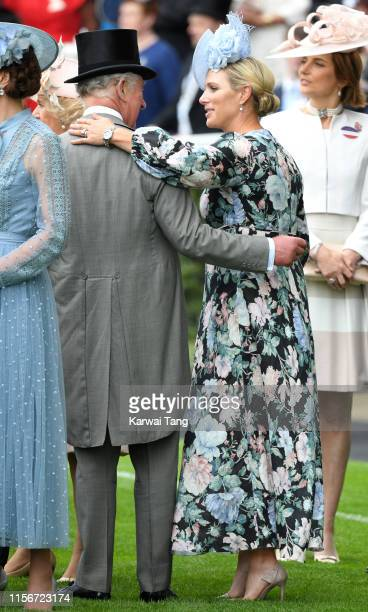 Prince Charles, Prince of Wales and Zara Phillips attend day one of Royal Ascot at Ascot Racecourse on June 18, 2019 in Ascot, England.