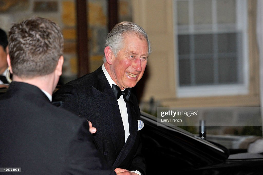 Prince Charles, Prince of Wales arrives at a reception and dinner for the Prince of Wales' U.S. Foundation on March 18, 2015 in Washington, DC.