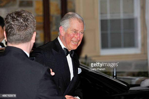 Prince Charles Prince of Wales arrives at a reception and dinner for the Prince of Wales' US Foundation on March 18 2015 in Washington DC