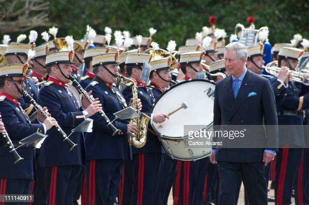 Prince Charles, Prince of Wales arrives at the Palacio Del Pardo on day one of a three day visit to Spain on March 30, 2011 in Madrid, Spain....