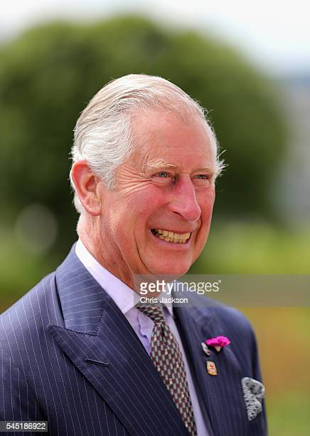 Prince Charles Prince of Wales arrives at the premises of Central Beacons Mountain Rescue Team on July 6 2016 in Dowlais Wales The Centre has been...
