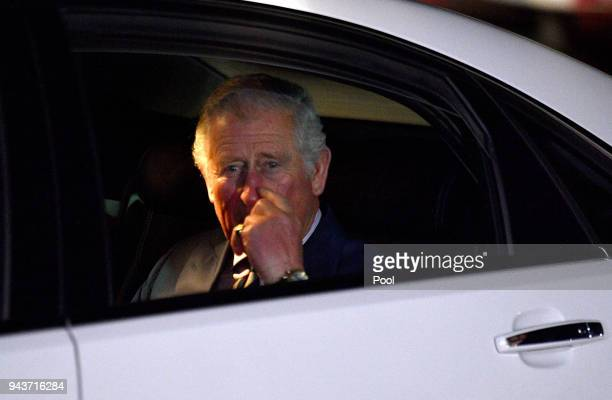 Prince Charles Prince of Wales arrives for a community reception at the Royal Flying Doctors Service Tourist Facility in Darwin on April 9 2018 in...
