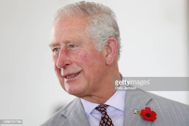 Prince Charles Prince of Wales arrives for a tour of Christiansborg Castle on November 3 2018 in Accra Ghana Built in the 17th Century Christiansborg...