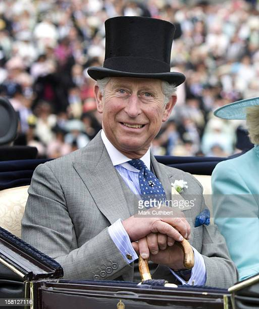 Prince Charles Prince Of Wales Arrives For Day Two Of Royal Ascot In Berkshire