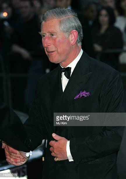 Prince Charles Prince of Wales arrives for the premiere of 'Stairway To Heaven' at Odeon West End on April 30 2007 in London England
