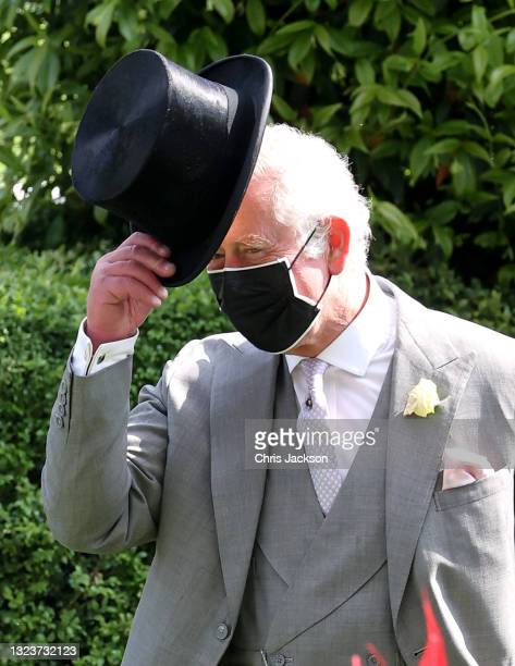 Prince Charles, Prince of Wales arrives into the parade ring during Royal Ascot 2021 at Ascot Racecourse on June 15, 2021 in Ascot, England.