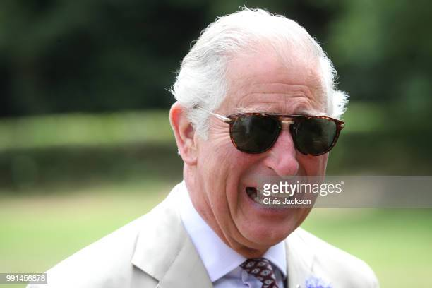 Prince Charles, Prince of Wales arrives to celebrate the 60th Anniversary of the designation of the Brecon Beacons National Park at the Brecon...
