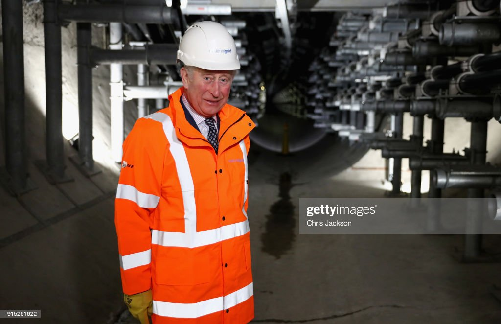 Prince Charles, Prince of Wales as he officially opens the London Power Tunnels Project with Camilla, Duchess of Cornwall, at Seven Sisters Road on February 7, 2018 in London, England.