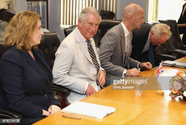 Prince Charles Prince of Wales attends a Cabinet meeting with Secretary for International Development Penny Mordaunt to discuss the current situation...