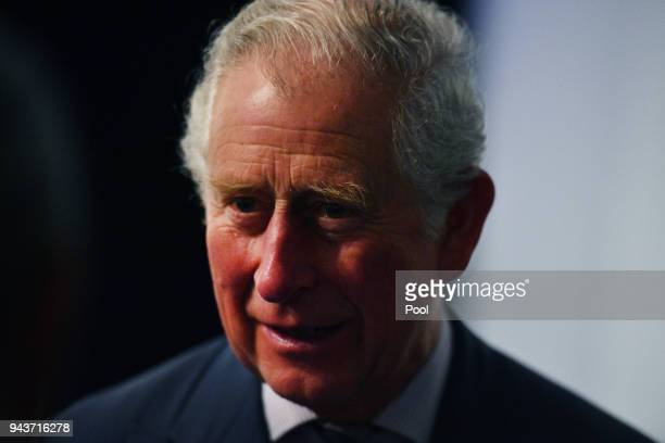 Prince Charles Prince of Wales attends a community reception at the Royal Flying Doctors Service Tourist Facility in Darwin on April 9 2018 in Darwin...