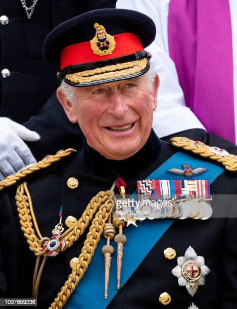 Prince Charles Prince of Wales attends Consecration Service at Bramham Park on September 22 2018 in Leeds England where he presented a new guidon to...