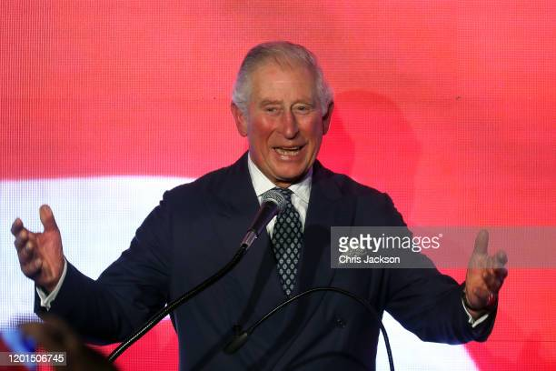 Prince Charles, Prince of Wales attends a reception at Her Majesty's Ambassador's Residence on January 23, 2020 in Tel Aviv, Israel. The Prince of...