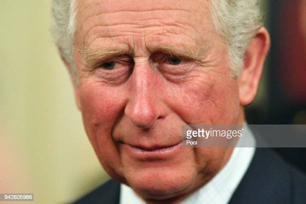 Prince Charles Prince of Wales attends a reception at Queensland Government House in Brisbane on April 6 2018 in Brisbane Australia The Prince of...
