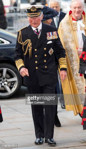 Prince Charles Prince of Wales attends a Service of Thanksgiving for the life and work of Sir Donald Gosling at Westminster Abbey on December 11 2019...