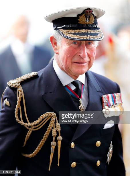 Prince Charles, Prince of Wales attends a Service of Thanksgiving for the life and work of Sir Donald Gosling at Westminster Abbey on December 11,...