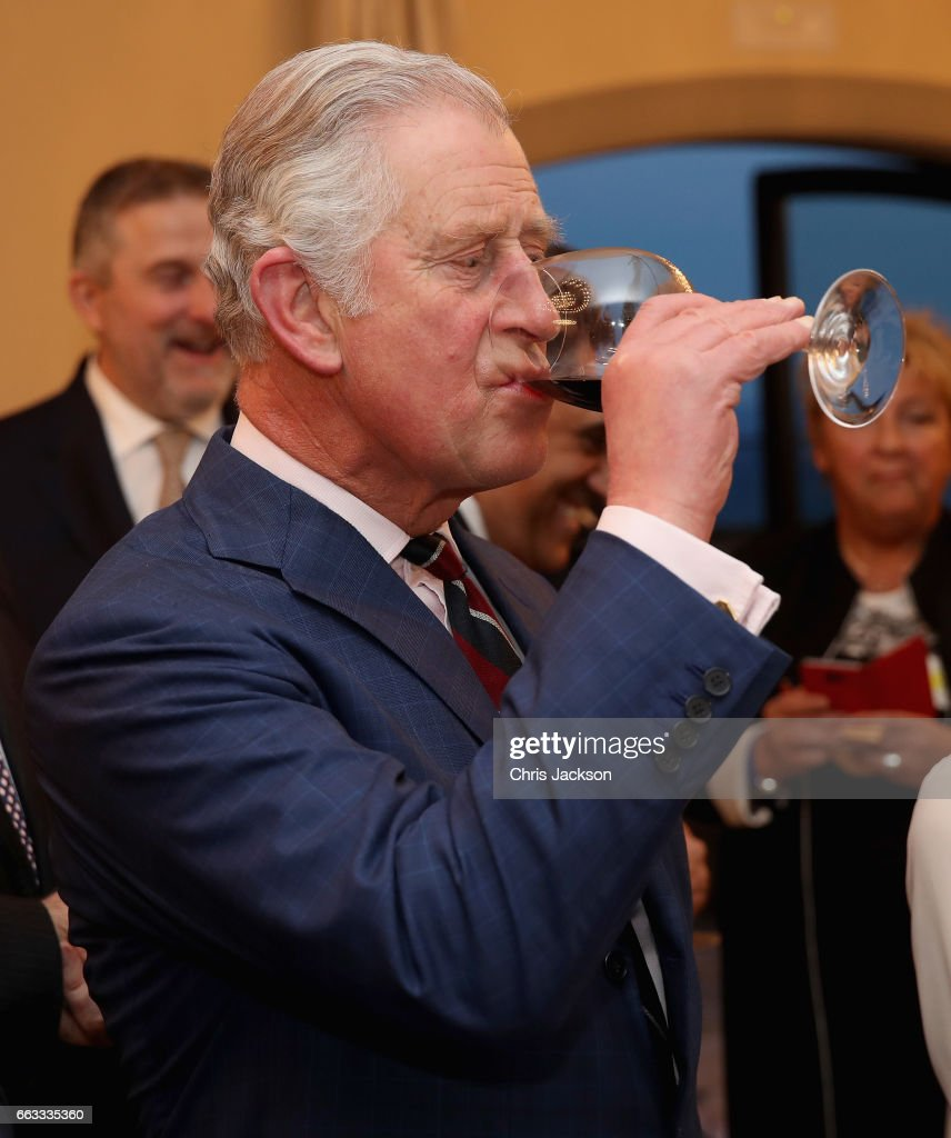 Prince Charles, Prince of Wales attends a wine reception in Central Florence on April 1, 2017 in Florence, Italy.